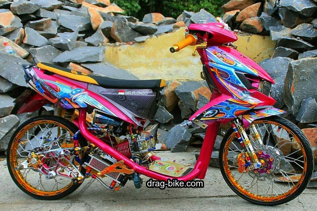 Modifikasi Mio Soul Thailook Street Racing Gt Drag Racing Velg