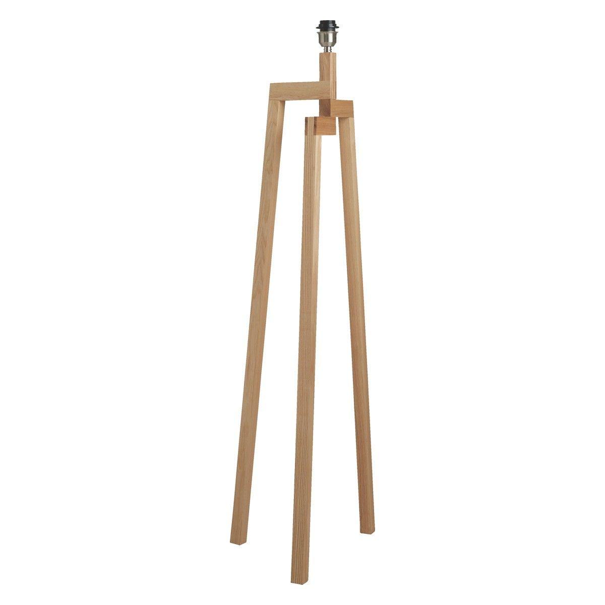 BASE Ash wooden tripod floor lamp