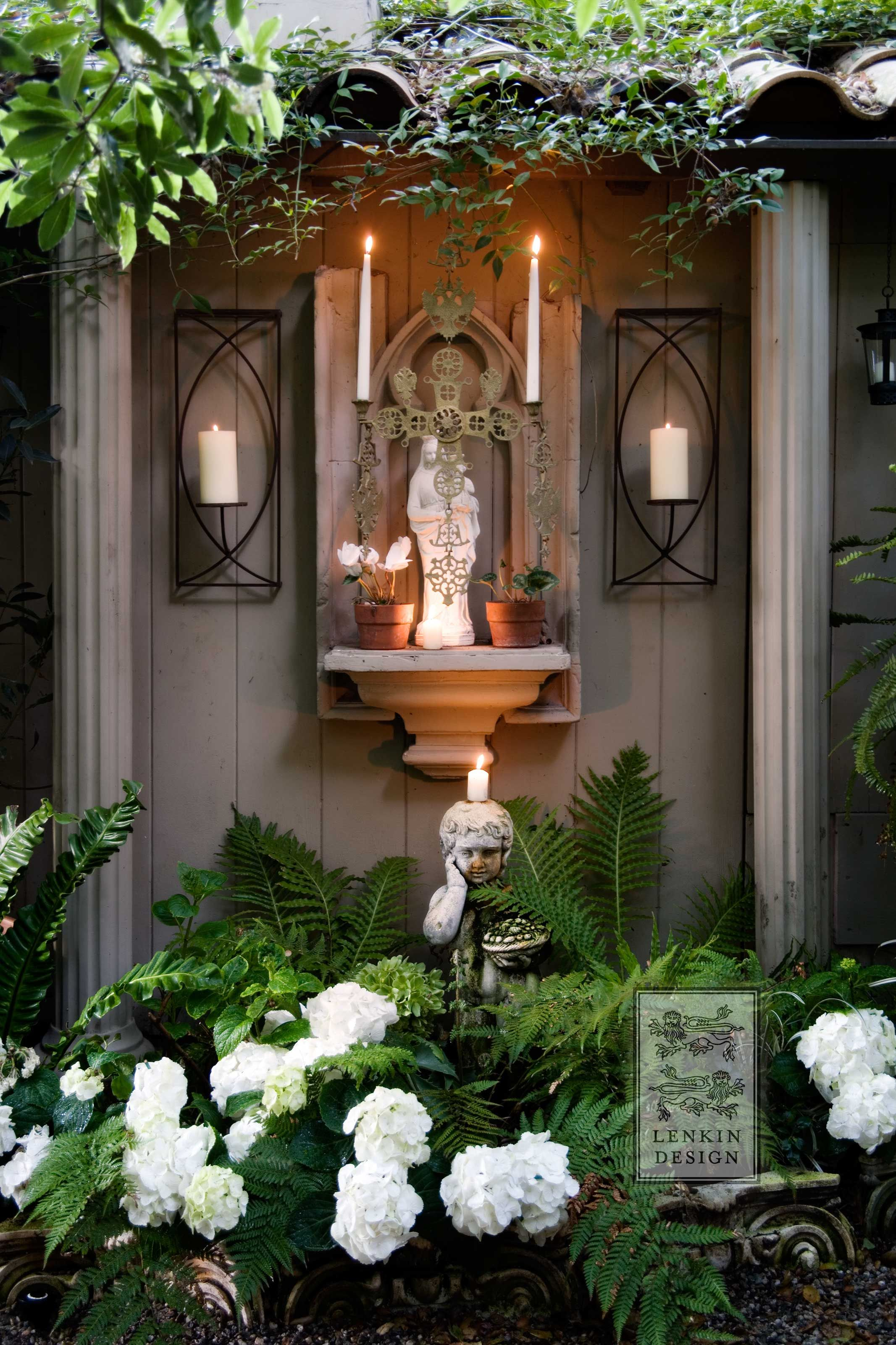 beautiful garden altar