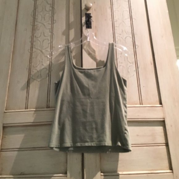J. Jill Stretch Green Tank Perfect condition despite letter on the label. Super soft! I love this shade of green J. Jill Tops Tank Tops