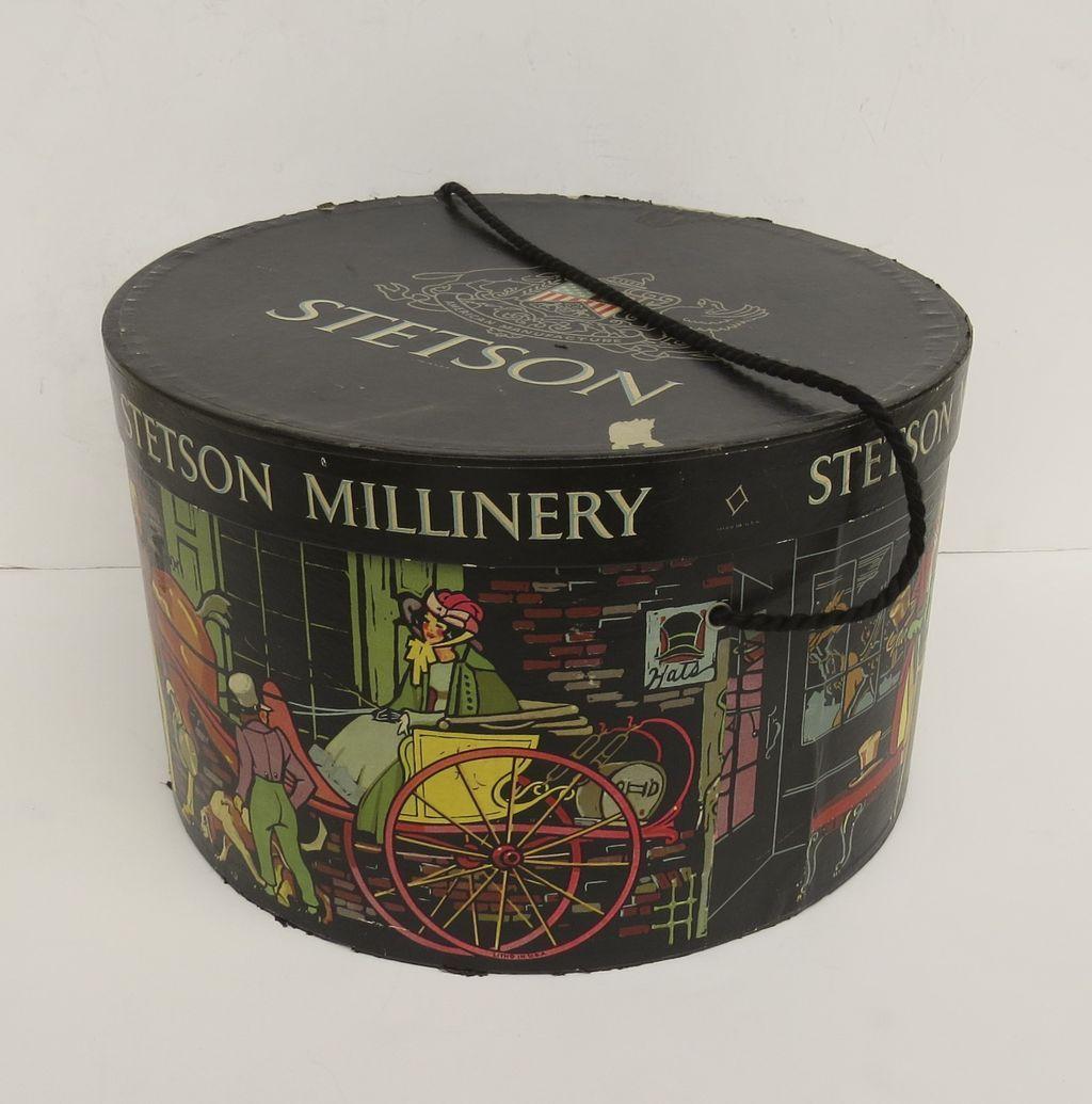 e20642e408ec4 Vintage Stetson Hat Box with Black Cord