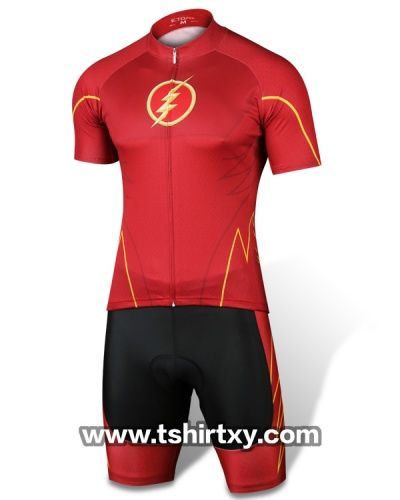 Cool Superhero Cycling Jerseys The Flash Cycle Clothes