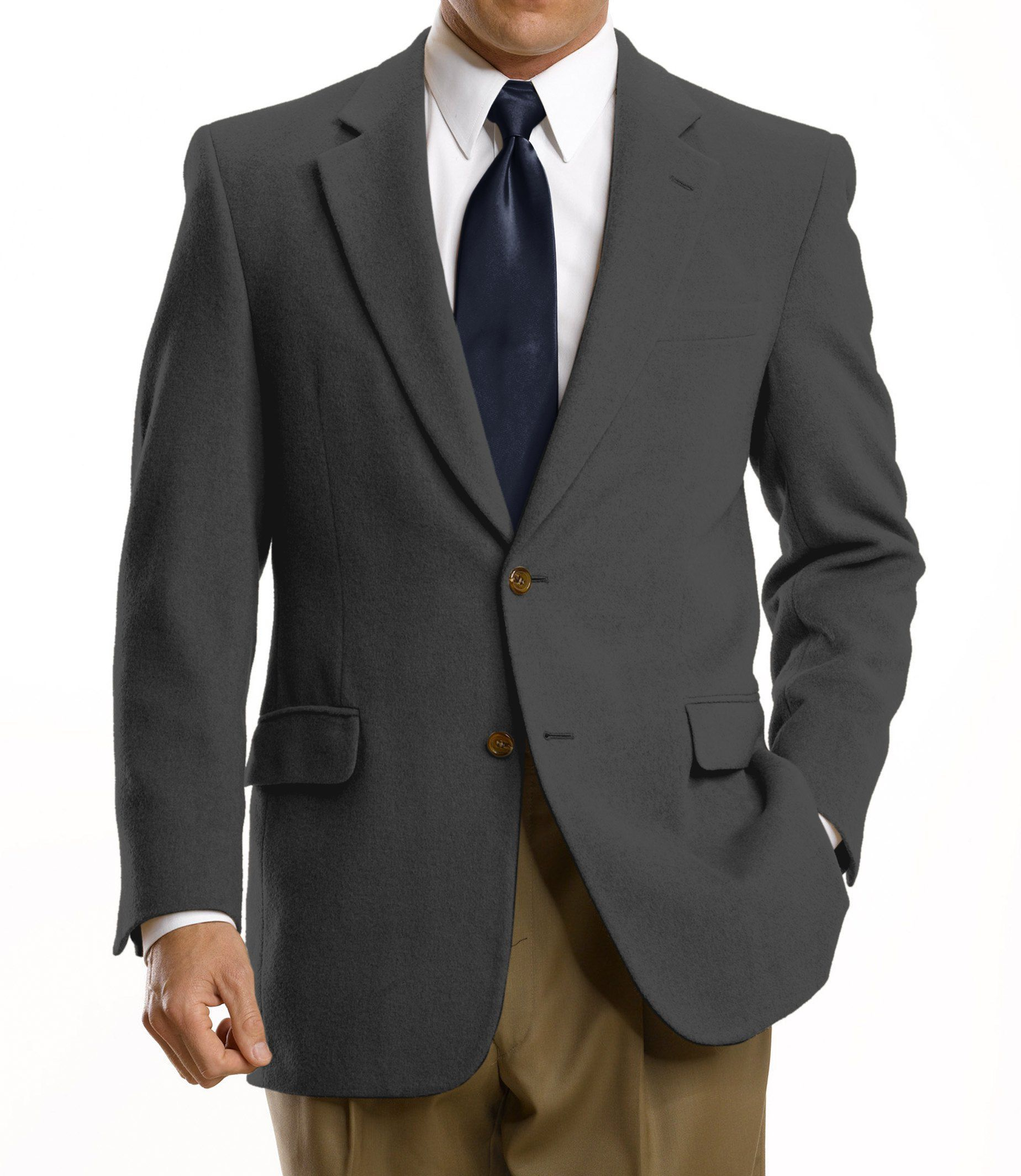 0b27485a6 Executive Collection Traditional Fit Camelhair Blazer - Big & Tall CLEARANCE