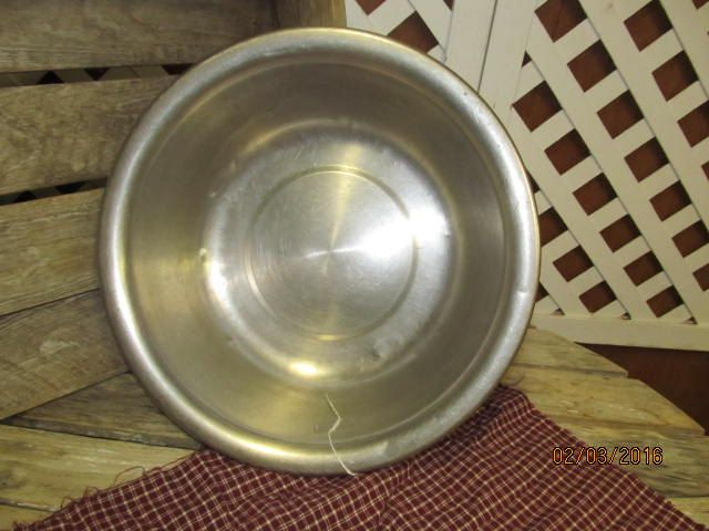Vintage Vollrath Stainless Steel 9 Quart Wash Basin Bowl marked with ...
