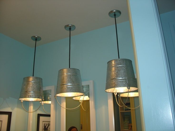 Clever Design 48 Inch Bathroom Light Fixture Gorgeous: Galvanized Bucket Light - Google Search