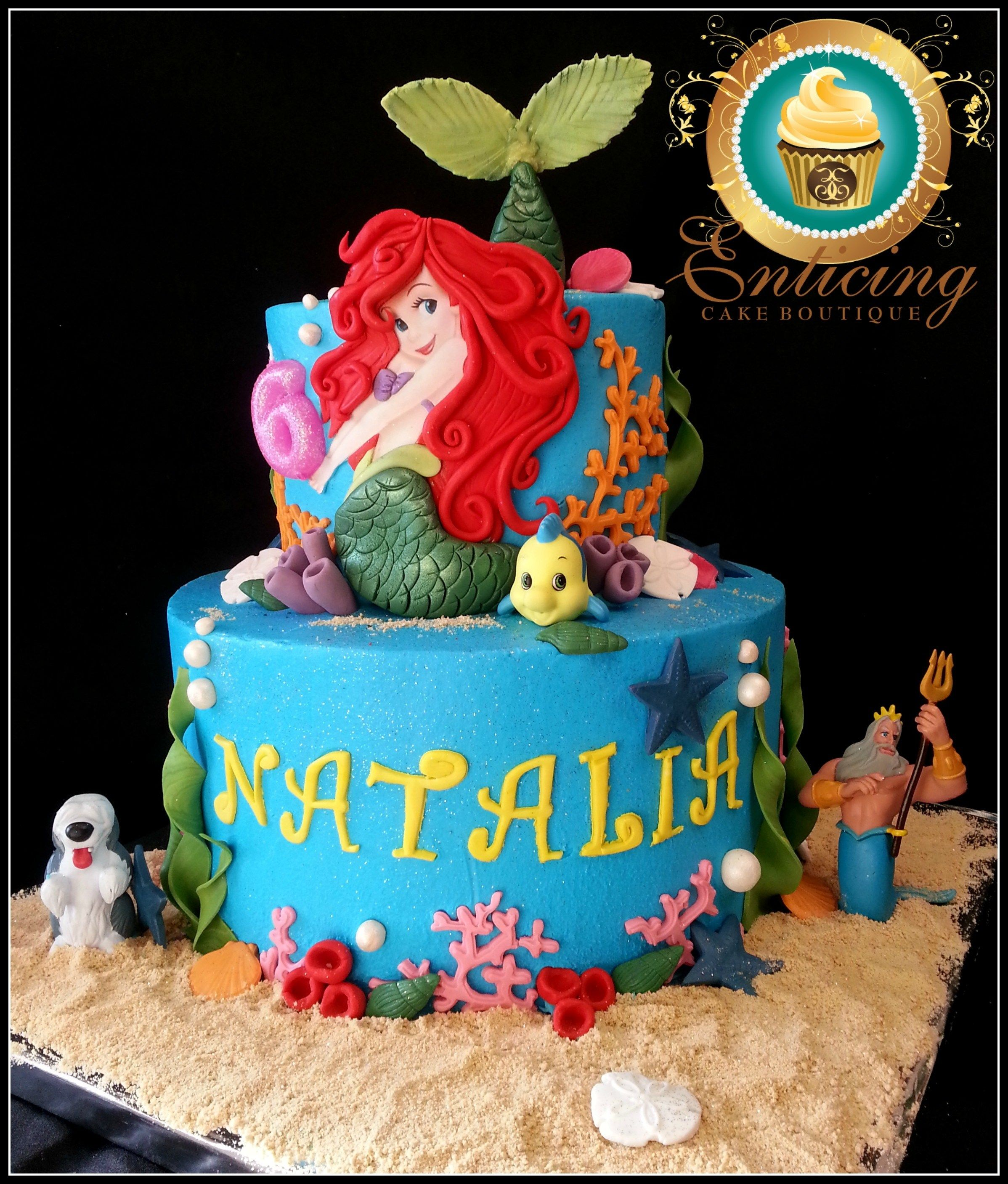 Incredible 30 Inspired Image Of Little Mermaid Birthday Cakes Mermaid Birthday Cards Printable Giouspongecafe Filternl