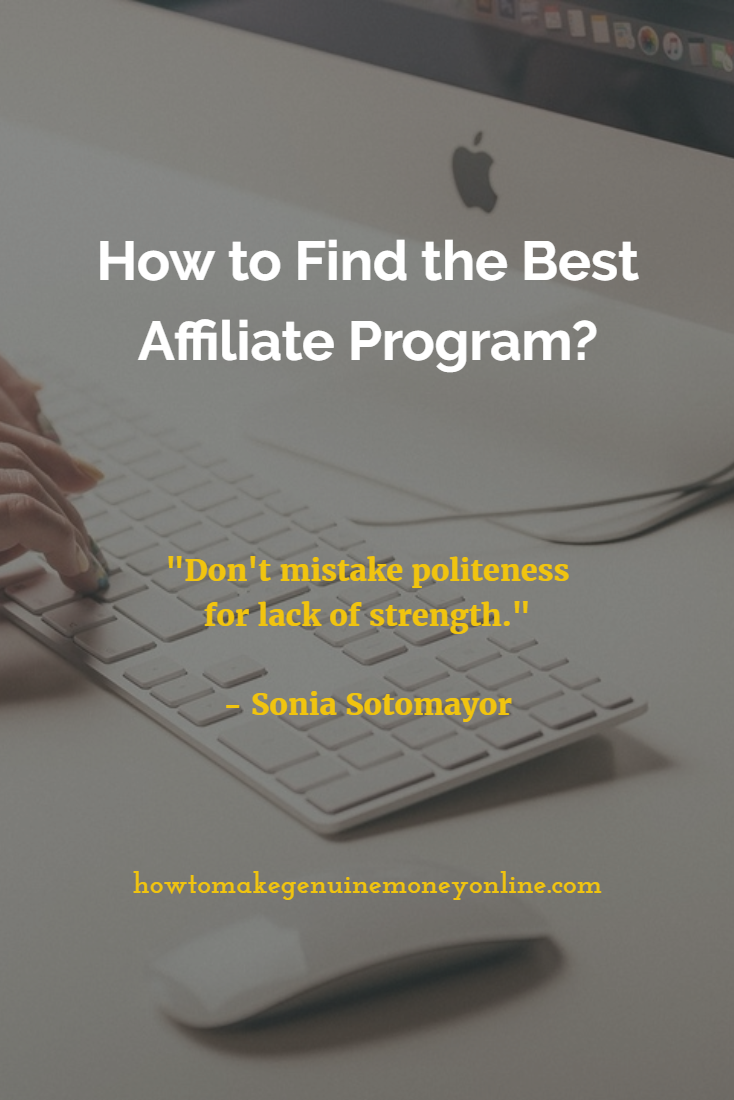 Choosing the best affiliate program is not just about