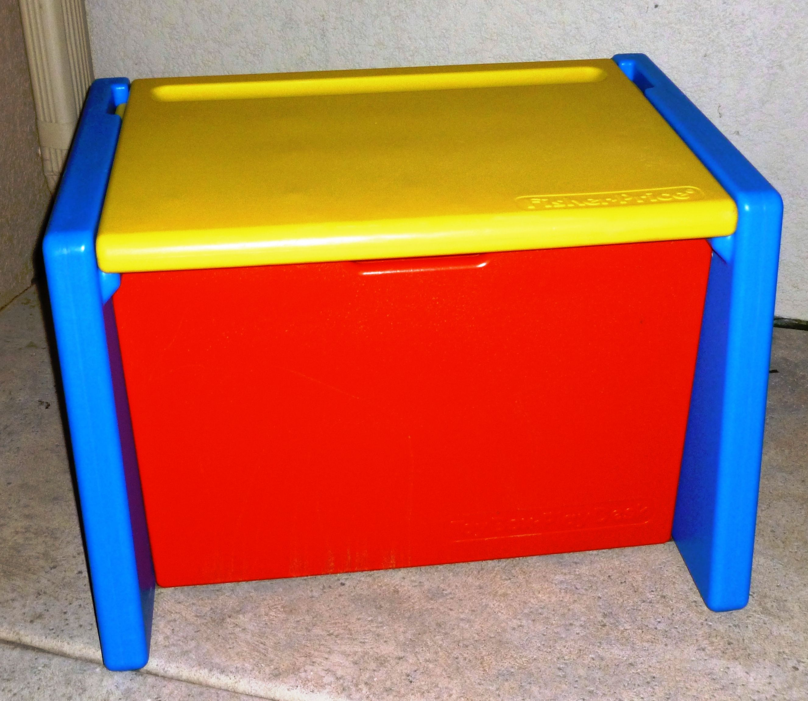 Toy Box Toys Vintage Fisher Price Toy Box That Doubles As A Desk 1991