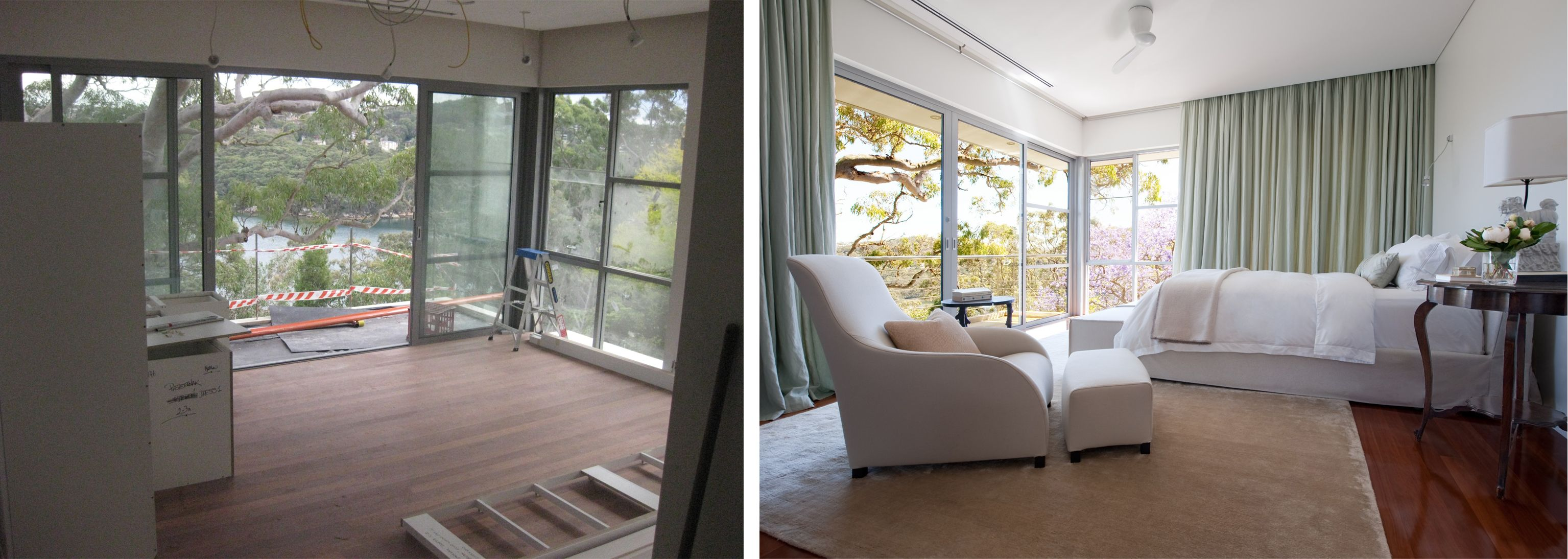 Master bedroom before and after  Castlecrag master bedroom before and after  Before u After