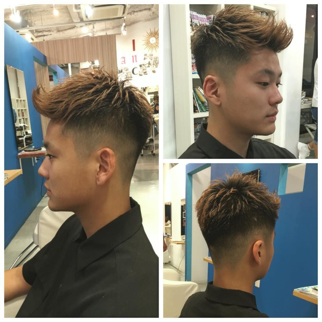 man spikes + fade haircuts for japanese man | japanese man's