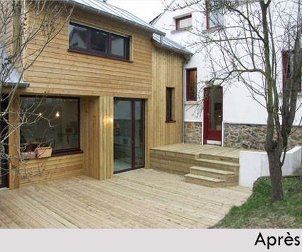 Constructeur Maisons Bois - Toit et Bois  La Terrazza Ouvertures - maison bois en kit toit plat