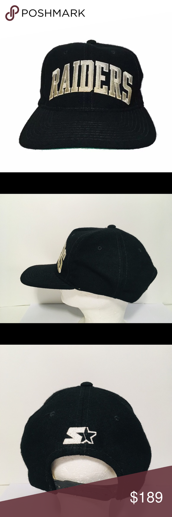 78f52e8415e29 Vintage Raiders Arch Wool Starter Hat Eazy E NWA • Rare Starter NFL snapback  hat. • Raiders arch text logo • Made of 100% wool. • Near excellent  condition.