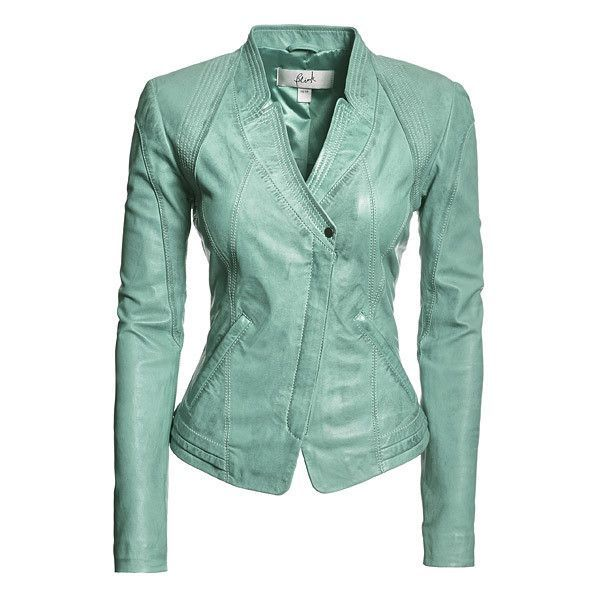 Danier : women : aqua blue leather fitted jackets | hourglass what ...