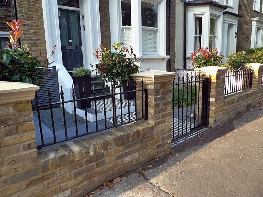 Fulham Brick Walls and Metal Rails & Gates - Landscape ...