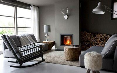 verftechnieken-grijze-muur-voorbeeld - Woonkamer | Pinterest ...