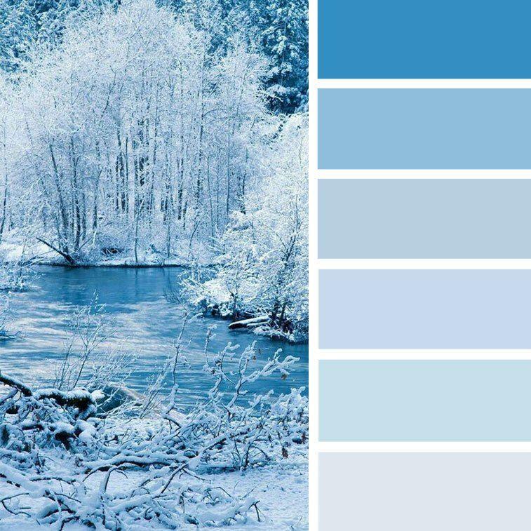 Winter Paint Colors: 100 Color Inspiration Schemes : Blue Winter Color Palette