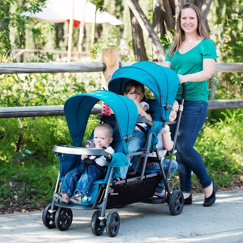 Joovy Big Caboose Graphite StandOn Triple Stroller