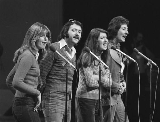 The Brotherhood of Man. 1976 Eurovision Song Contest rehearsals. #BrotherhoodOfMan #Eurovision