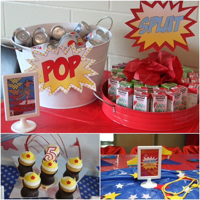 Awesome Wonder Woman Birthday Party Girl S Party Ideas Wonder
