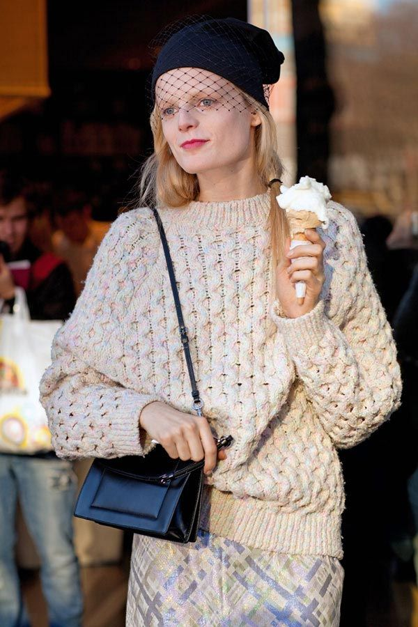 Hanne Gaby Odiele mixes fashion with pleasure — in the form of gelato, naturally.   - HarpersBAZAAR.com