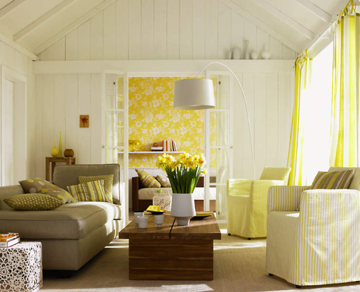 Wohnzimmer Blumen ~ Frische farben fürs wohnzimmer toller kontrast der weiße wände