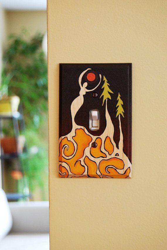 Moon Goddess Original Painting Wood Light Switch Cover By Jodi Mayne