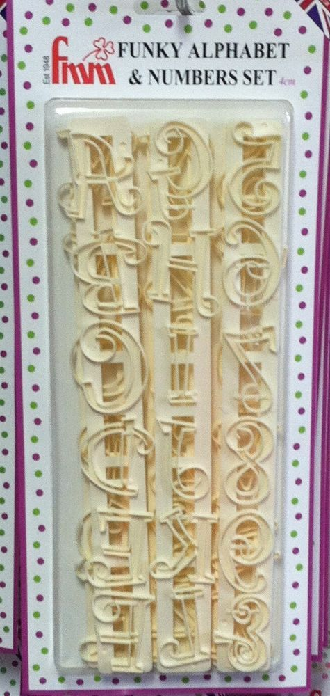 FMM Tappit Cutter Set -Funky Alphabet Letters & Numbers Upper Case- cake decor #FMM