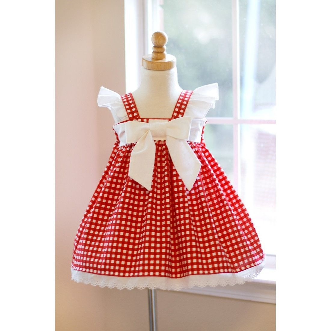 Red gingham dress best dressed babies and kids pinterest