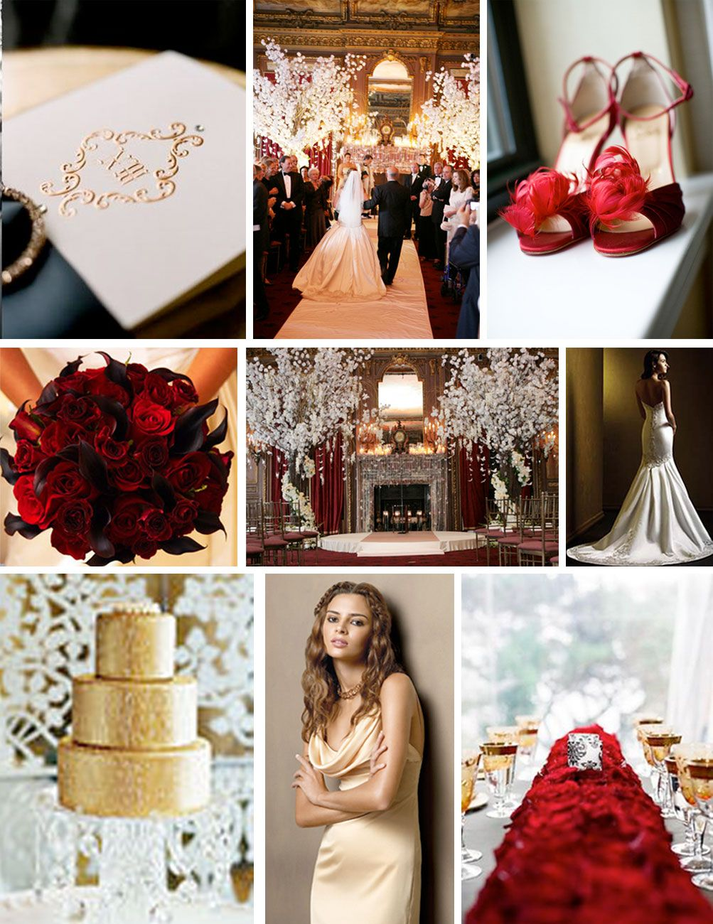 Zenadia Design's Color Palettes: Color Palette: Red Gold and White Gold wedding decorations