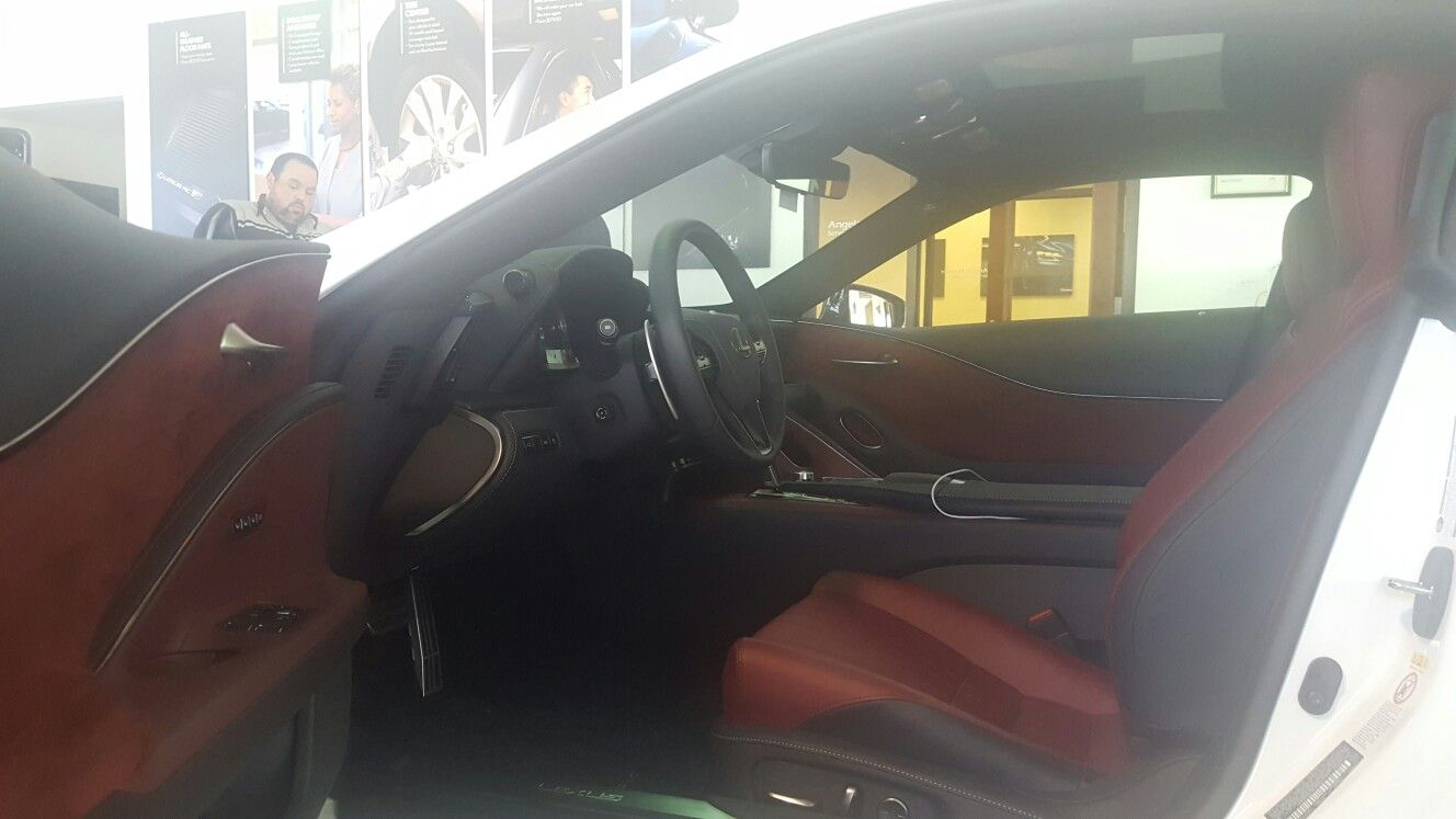 Lexus LC500h Door panels interior is suede cloth for noise damper since panels are carbon fiber. That material will help reduce noise. They also used it on headliner.