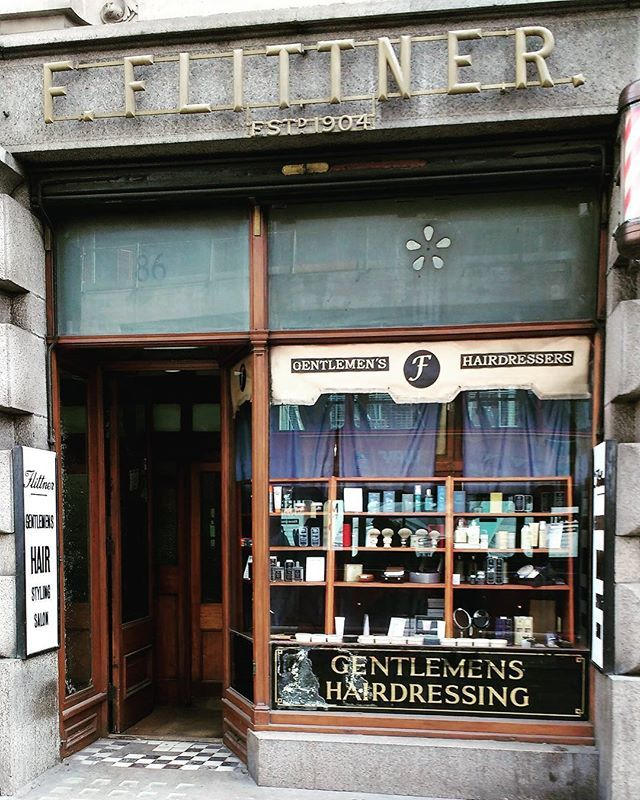 Proper haircuts for proper gentlemen. F Flittner established in 1904 - Moorgate London #LDN