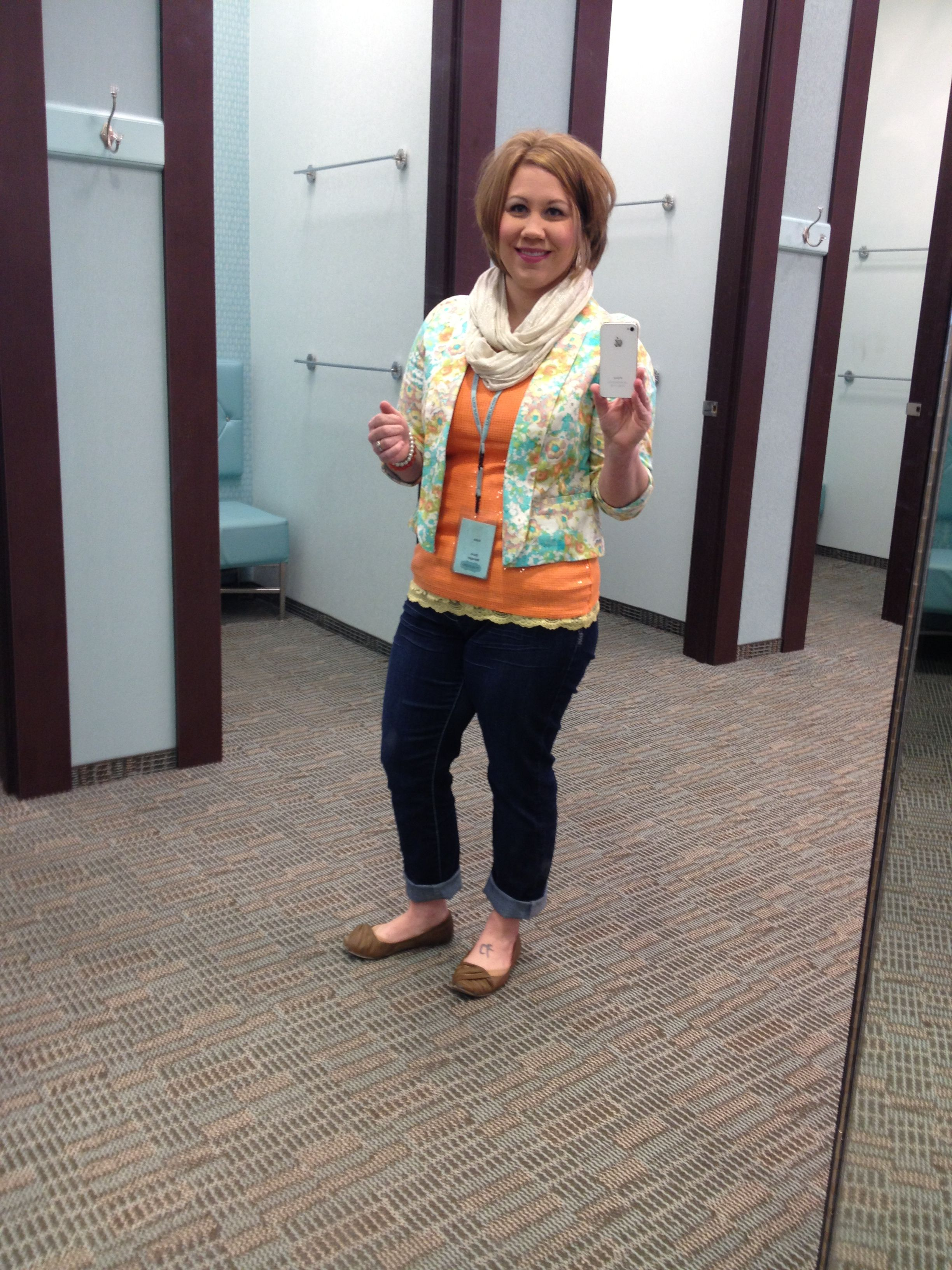 Rocking out the floral blazer! :-) #maurices