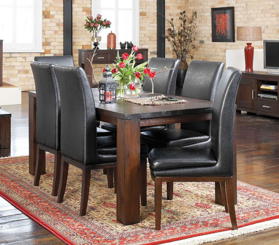 Rustic heirloom piece dining from harvey norman new