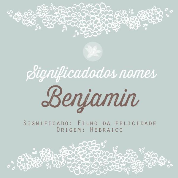 significado do nome Benjamin