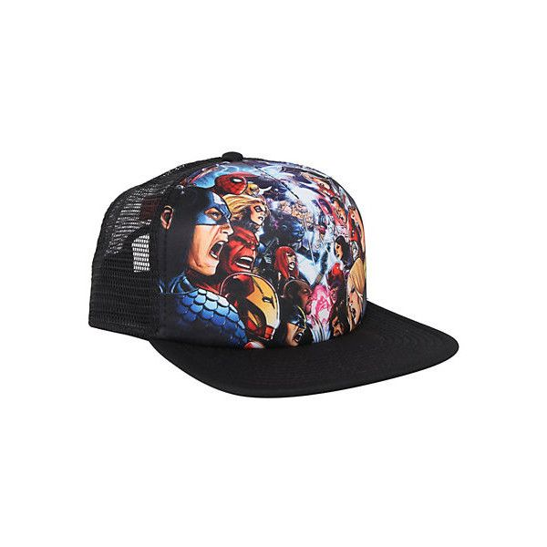 Marvel Universe Avengers Vs. X-Men Snapback Trucker Hat  af475001859