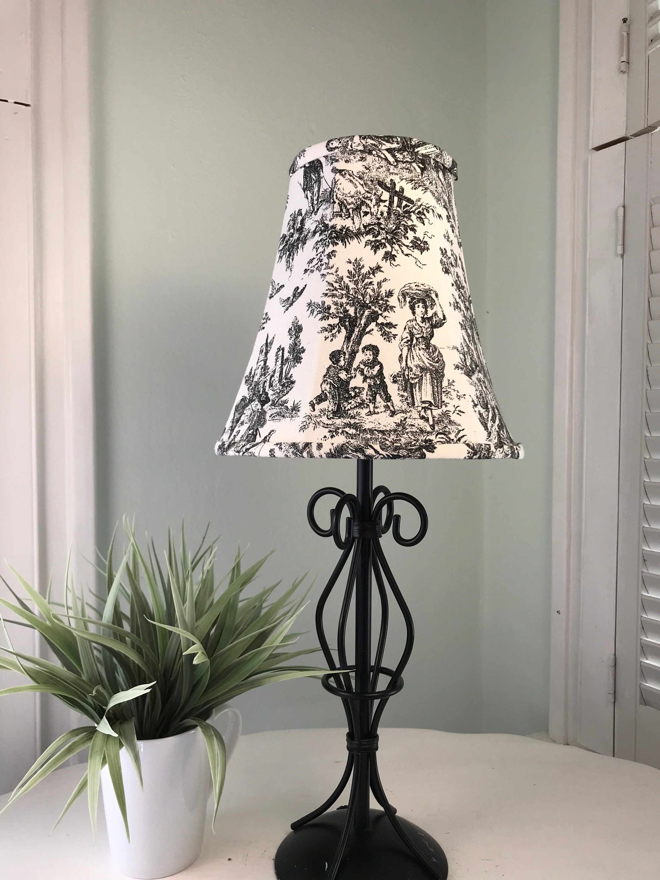 Black And White Toile Toile Lamp Shade French Country Lamp Shade French Lamp Shade Shabby Chic Shade Free Shipping Continental Usa French Lamp Toile Lamp French Lamp Shades