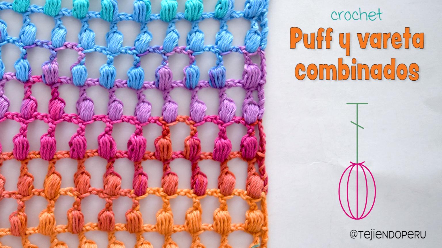 Photo of Punto combinado tejido a crochet: vareta o punto alto + vareta :)