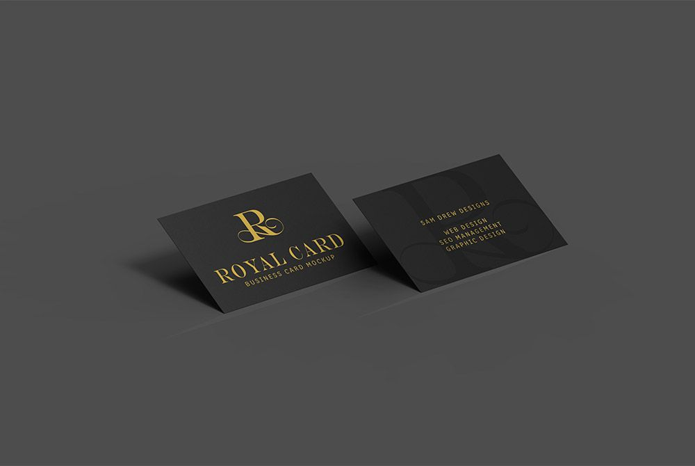 Dark Business Card Mockup Psd With Images Business Cards