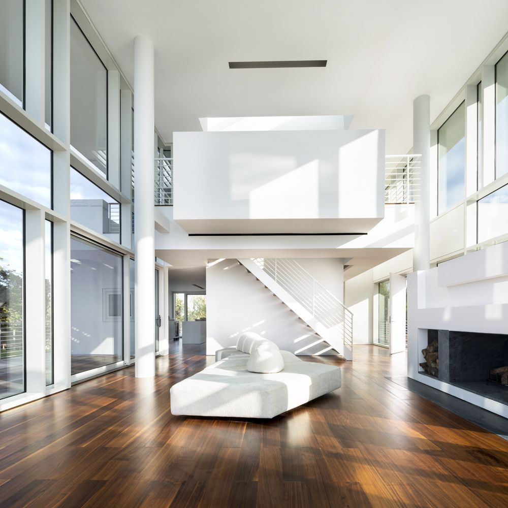 Fire island house richard meier partners architects for Island living interiors