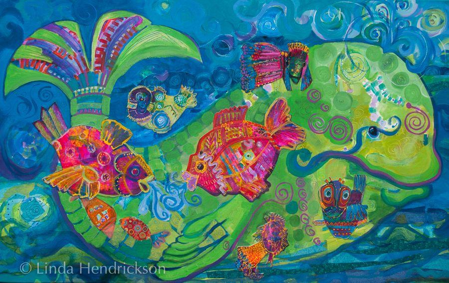 """Jonahs Detour""  30"" X 48"" Mixed Media on Gallery Wrapped Canvas  Linda Hendrickson"