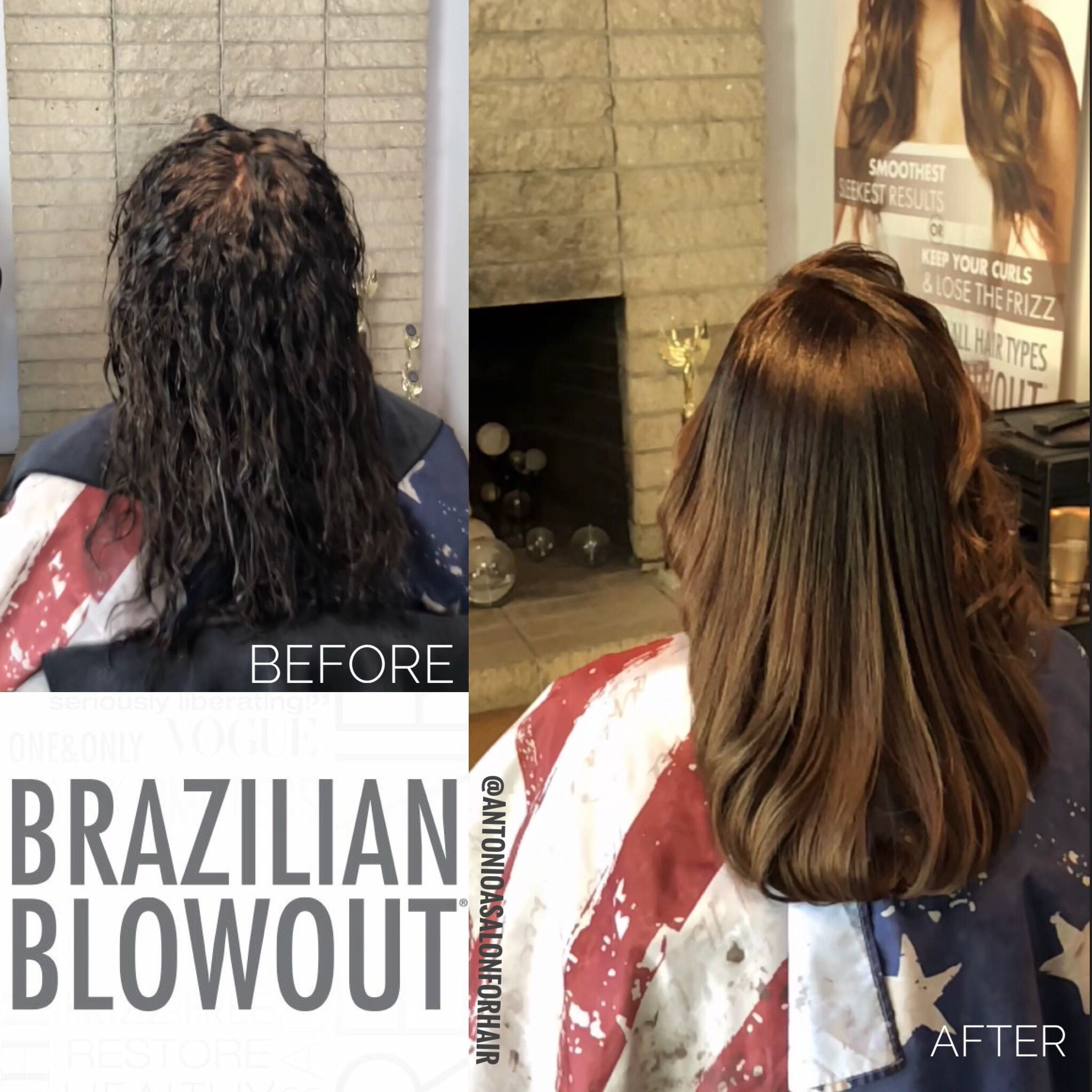 Brazilian blowout before and after antonio a salon for hair