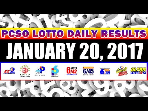 PCSO Lotto Draw Results Today, January 20, 2017 Draws (con