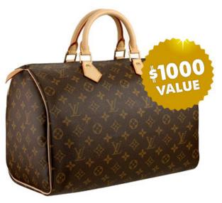 $1000 Louis Vuitton Designer Bag http://todayfreeoffersdeal.blogspot.com