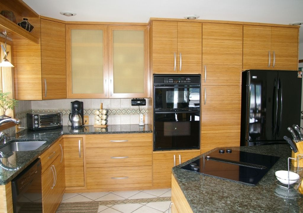 Best Kitchen Contemporary White Kitchen Cabinets With Bamboo 400 x 300