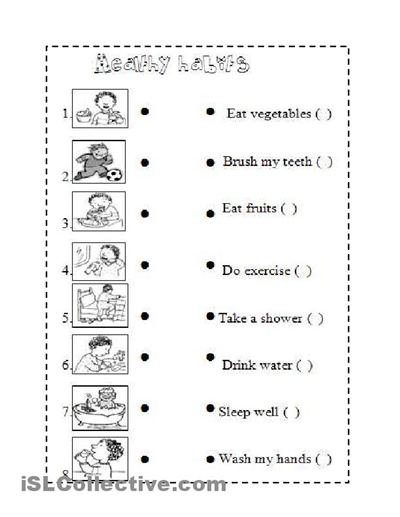 Healthy Habits For Kids Worksheets Images for good health habits ...