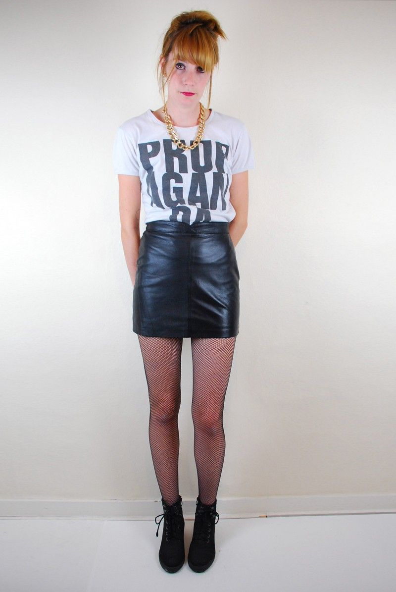 Retro 80 S Leather Mini Skirt Threads Ink Jewels Pinterest