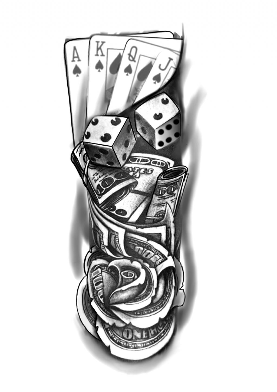 Ganstertattoos In 2020 Card Tattoo Designs Best Sleeve Tattoos Tattoo Designs Men