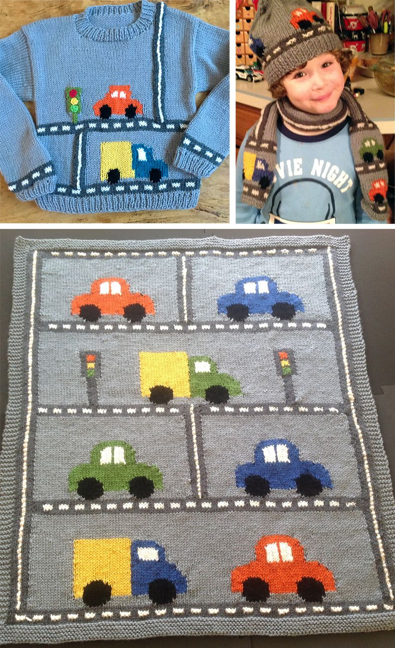 Free Knitting Patterns for Car Blanket, Sweater, Hat, and Scarf ...
