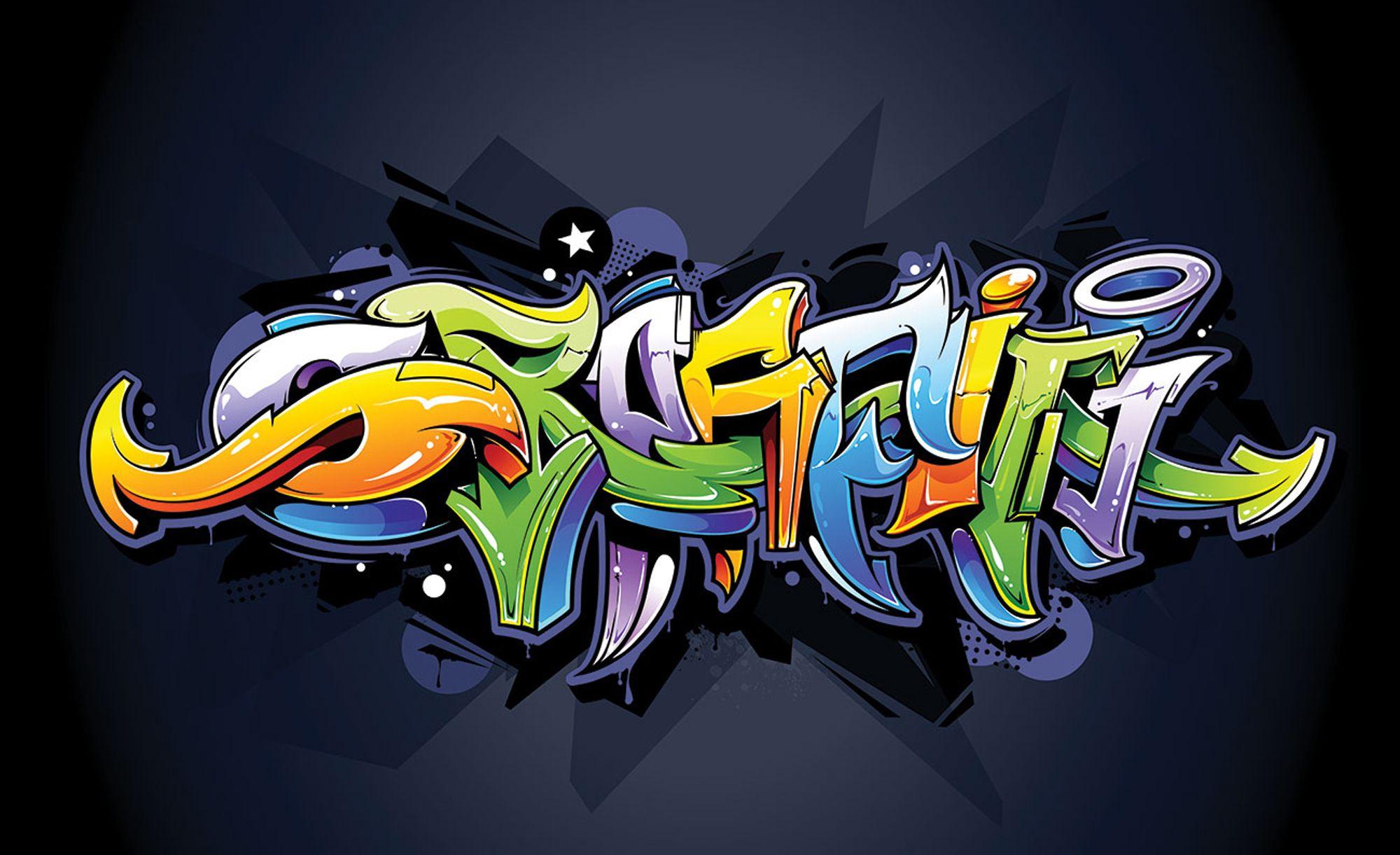 Fototapeta dzieci graffiti kolor ściana mur254x184