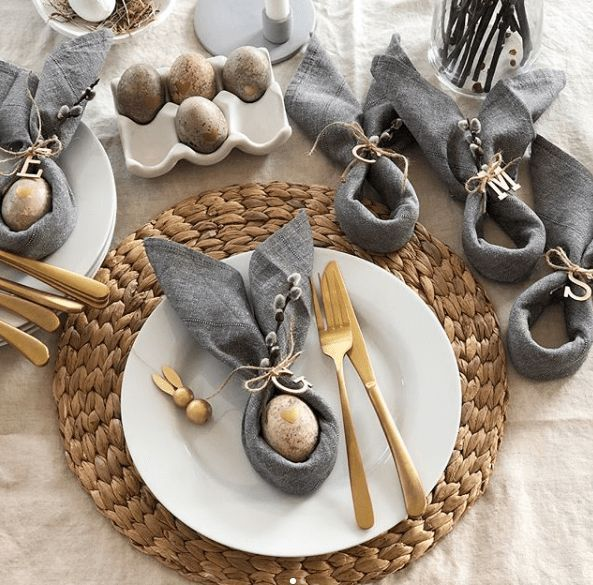 Photo of The Isle Home – Sunday Scroll Easter Table Settings and Deco…